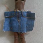How To Tailor A Tiny 1/12 Denim Skirt / Part 1