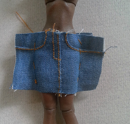 How To Tailor A Tiny 1/12 Denim Skirt / Part 1