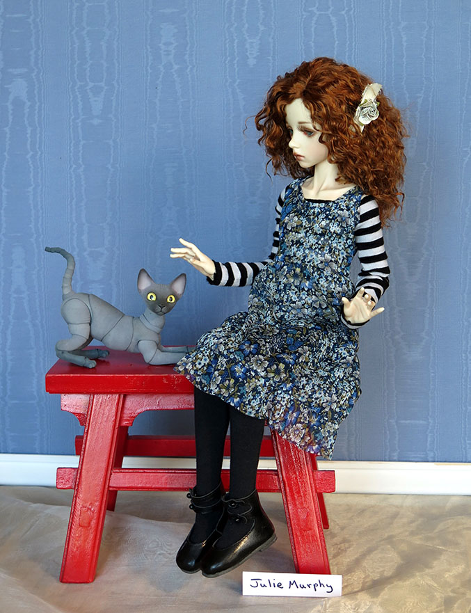 JulMurphy8cm Cat With 52.5cm Dollstown Elf
