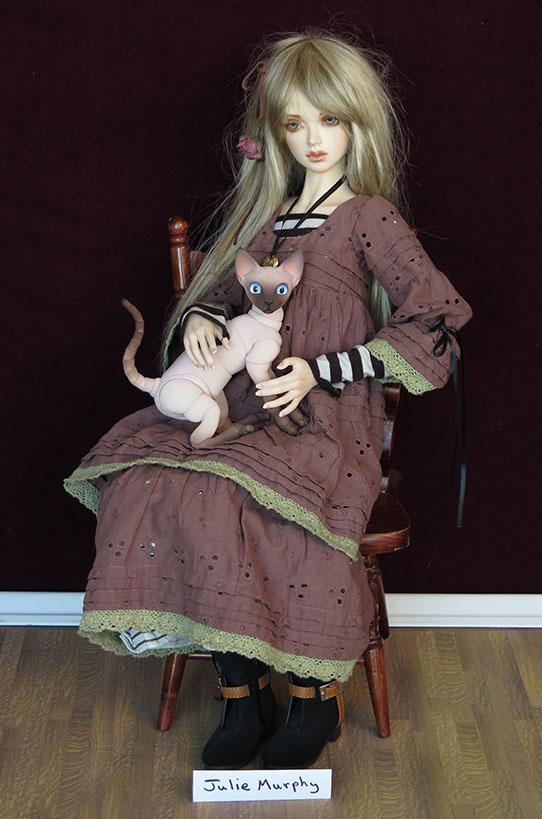 JulMurphy8cm Cat With 60cm Bjd
