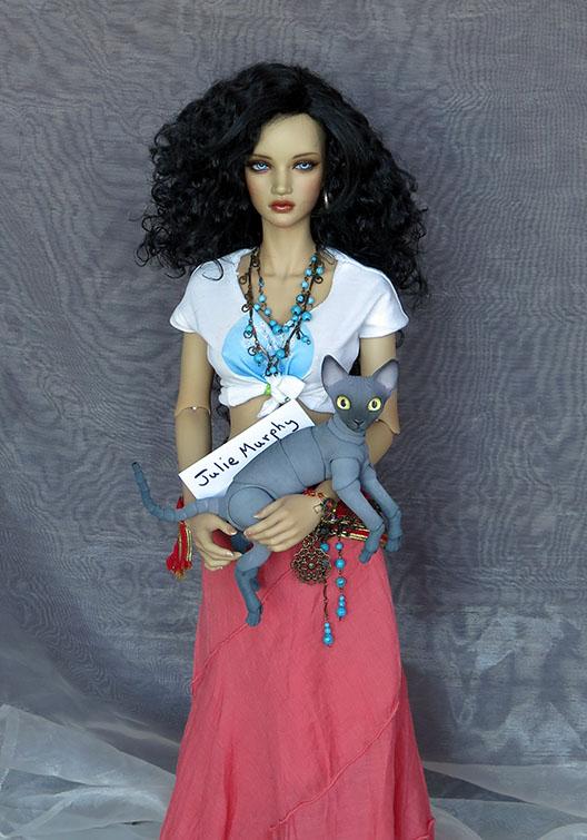 JulMurphy8cm Cat With 62cm Bjd