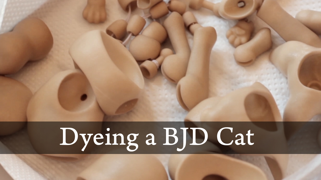 Dyeing A BJD Cat